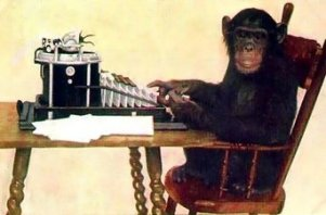mono-escribiendo