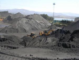 Almacen de carbón en la localidad Leonesa de Cubillos del Sil. Foto de lne.es