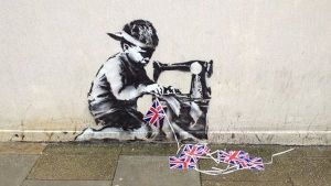 """El graffiti de Banksy """"robado"""" que pretendían subastar"""