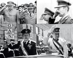 Pinochet, Banzer, Videla y Stroessner