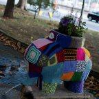 El elefantín del Parque del Muelle de Avilés, Asturias. Urban Knitting Avilés