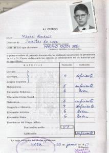 Expediente escolar Mariano Rajoy (Foto: Spanish Revolution)