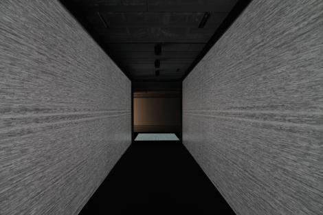 Exposición arte contemporáneo del japonés Riojy Ikeda en Madrid.  Fuente: Juan Haro