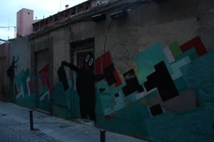 El mural de Nuria Mora y Boris Hoppek en noviembre de 2013