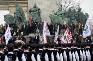 Acto de Jobbik en Budapest.