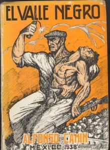 Portada de El Valle Negro de Alfonso Camín en su edición de 1938